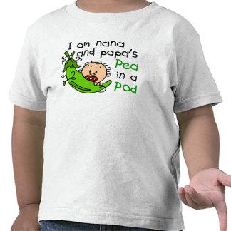 I Am Nana And Papa s Pea In A Pod Tshirts