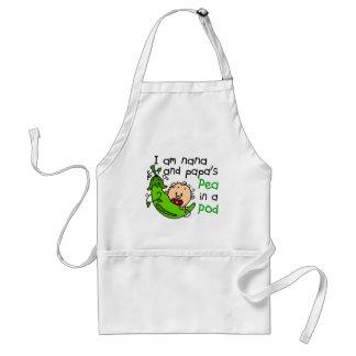 I Am Nana And Papa's Pea In A Pod Adult Apron