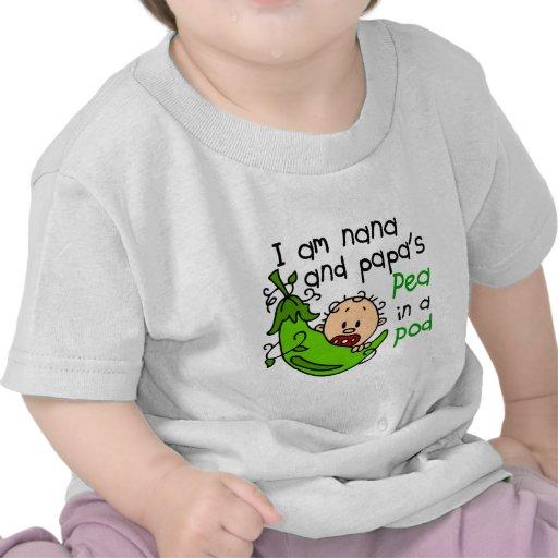 I Am Nana And Papa's Pea In A Pod Tees