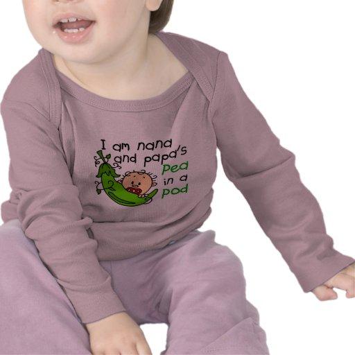 I Am Nana And Papa's Pea In A Pod Tshirt