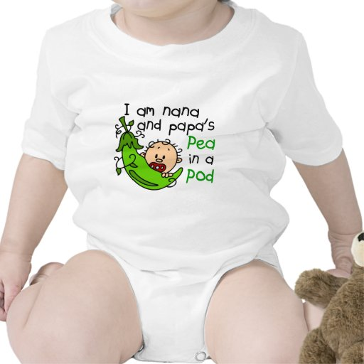 I Am Nana And Papa's Pea In A Pod Bodysuit