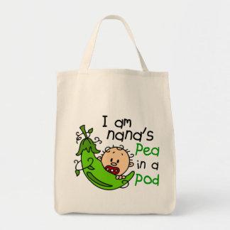 I Am Nana's Pea In A Pod 1 Grocery Tote Bag