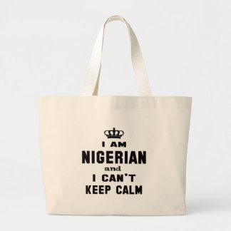 I am Nigerian and i can't keep calm Jumbo Tote Bag