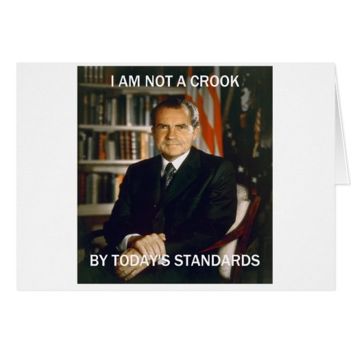 i am not a crook greeting cards