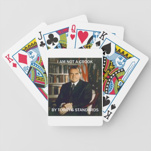 i am not a crook poker cards