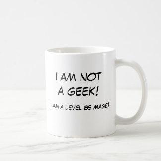 I am not a geek! basic white mug