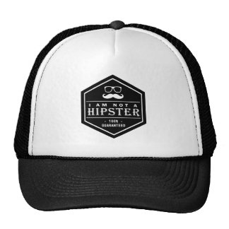 I am not a Hipster 100% Guaranteed Funny Mustache Cap