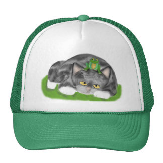I am not a Lily Pad Meows Kitten Trucker Hat