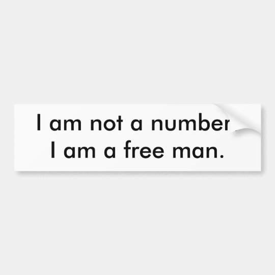 I am not a number!I am a free