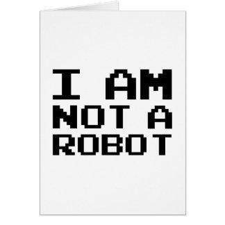 I Am Not A Robot Card