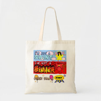 i am not a saint or sinner tote bag