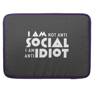 I am not anti social! Macbook Pro Sleeve