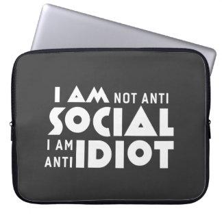 I am not anti social! Neoprene Laptop Sleeve