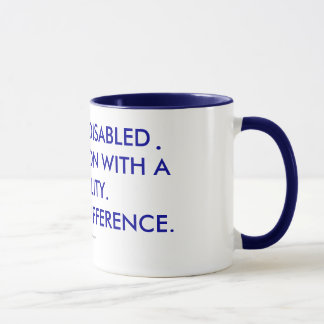 I AM NOT DISABLED I AM A PERSON WITH A DISABILITY