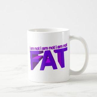 I am not fat coffee mug