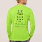 I am Not Last Eye Chart - LS Sport-Tek Running T-Shirt