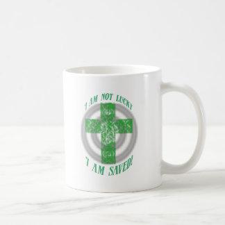 I am not Luck I am saved Mugs