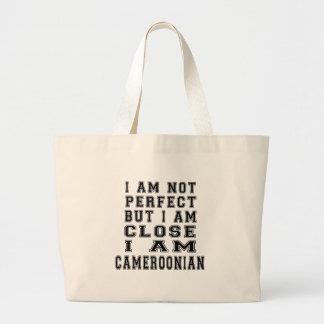 I am not perfect but i am close, I am Cameroonian Tote Bags