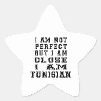 I Am Not Perfect But I Am Close I Am Tunisian Star Sticker