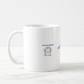 I am not plump, I'm fluffy Basic White Mug