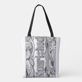 I AM Nourished Tote Bag - Color Your Own Tote