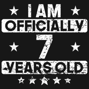 I Am Officially 7 Years Old 7th Birthday T Shirt