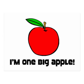 I Am One Big Apple Post Cards