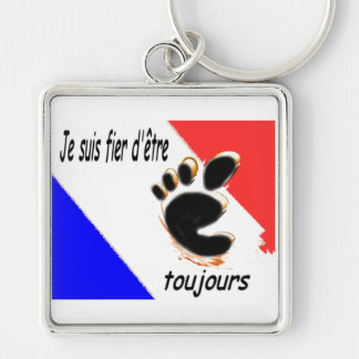 I am Pieds-Noirs and proud to be it Silver-Colored Square Key Ring