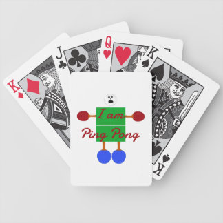 I am Ping Pong Cartoon Bicycle Playing Cards