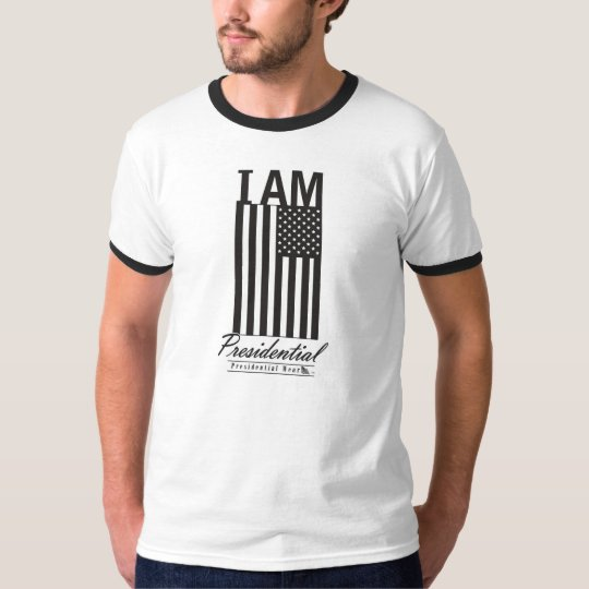I AM PRESIDENTIAL bold letters with AMERICAN FLAG T-Shirt
