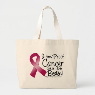 I Am Proof Multiple Myeloma Cancer Can Be Beaten Jumbo Tote Bag