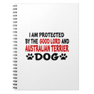 I Am Protected By The Good Lord And AUSTRALIAN TER Spiral Note Books