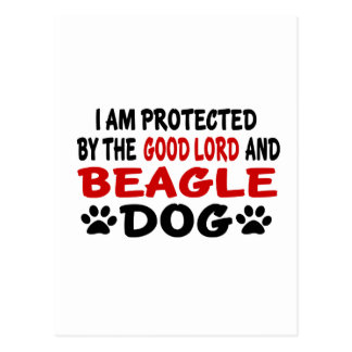 I Am Protected By The Good Lord And BEAGLE Postcard