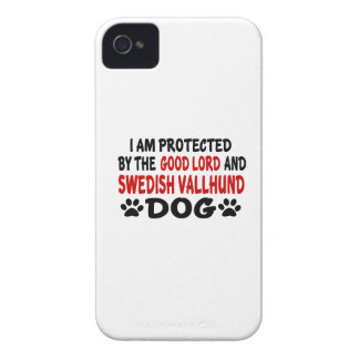 I Am Protected By The Good Lord And Swedish Vallhu iPhone 4 Case-Mate Cases