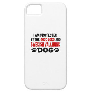 I Am Protected By The Good Lord And Swedish Vallhu iPhone 5 Cases