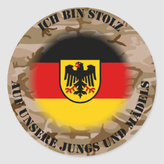 I am proud…. classic round sticker