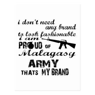 I am proud of Malagasy army Postcard