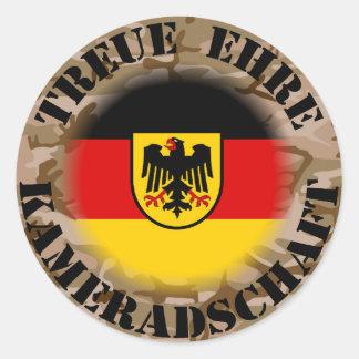 I am proud…. round sticker