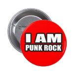 I AM PUNK ROCK guys girls punk music 6 Cm Round Badge