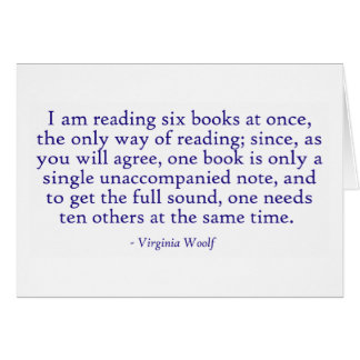 I Am Reading Six Books At Once Card