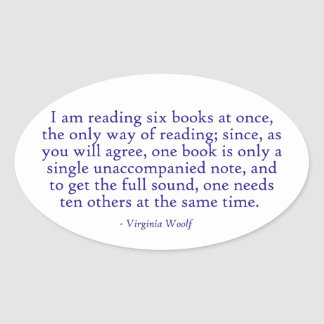 I Am Reading Six Books At Once Sticker