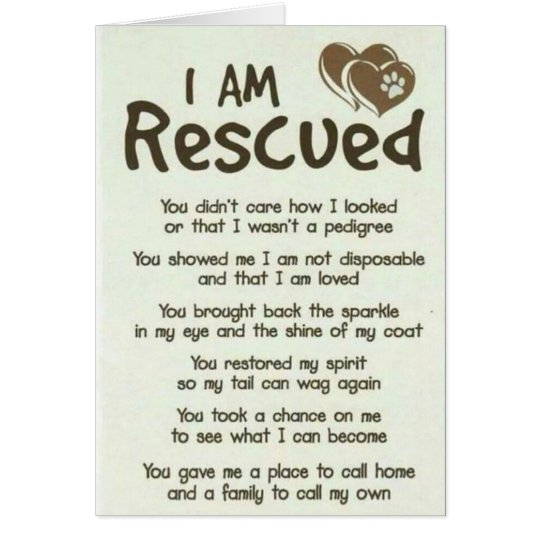 I Am Rescued Best Dog Dad Card
