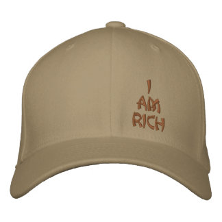 I am Rich affirmation base ball cap Embroidered Hats