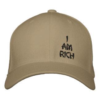 I am Rich affirmation base ball cap Embroidered Baseball Cap