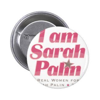 I Am Sarah Palin 6 Cm Round Badge