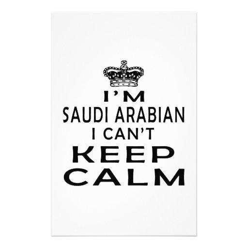 I am Saudi Arabian I can't keep calm Personalized Stationery
