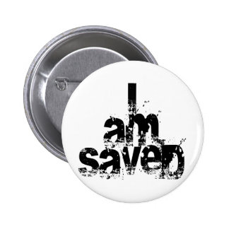 I AM Saved Christian 6 Cm Round Badge