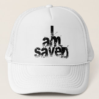 I AM Saved Christian Trucker Hat