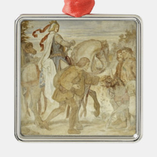 I am searching for my Donkey, Wartburg Castle Silver-Colored Square Decoration