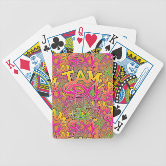 I am sexy and I know it - graffiti Bicycle Playing Cards